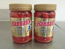 Hannahs Red Hot Pickled Sausage Quart Jars -16oz (Lot of 2) *PRIORITY SHIPPING*