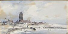 Künstlerische Malereien mit Aquarell-Technik von 1800-1899 als Original der Zeit