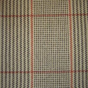 Sand & Black with Red & Orange & Red Check Tweed - 2.50 Mtrs