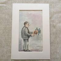 Raro Originale Pittura Acquerello James Armand De Rothschild Famiglia
