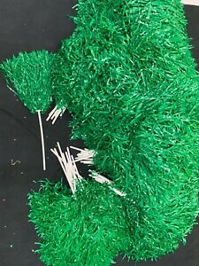 171 X Green Genuine Crowd Wavers manufactured by Pepco Poms USA & 13 X Blue