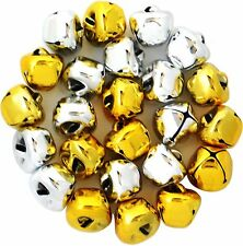 Jingle Bells, - 15mm  GOLD AND SILVER 24 pcs