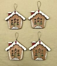 Salem Collection - Gingerbread House Resin Ornament- USA - (Set of 4)