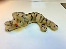 OLD Steiff~1940s Snow Tiger Mohair~Glass eyes~as Is~No button