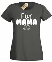 Womens Fur Mama Dog Animal T Shirt ladies top gift