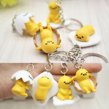 Creative Gifts Egg Yolk Keychain Dolls Pendant Toys Yellow White Key Ring Random