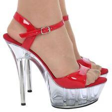 Calzado de mujer plataformas de color principal rojo sintético