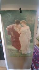 Large antique oil painting on canvas