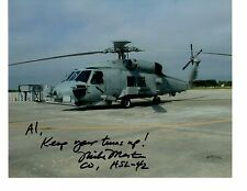 Sikorsky SH60B Seahawk HSL42 Navy Helicopter Photo 8x10 NS Mayport Signed by CO