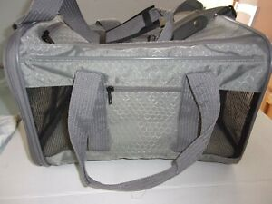 gray Sherpa TO GO Pet Dog Medium Travel Carrier Bag Purse Pocket airline -16lbs
