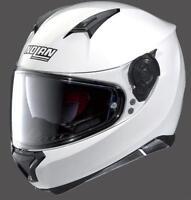 CASCO MOTO INTEGRALE NOLAN N87 SPECIAL PLUS N-COM PURE WHITE/BIANCO TG.M