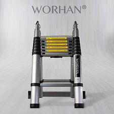 WORHAN®4.4m Telescopic Foldable Extendable Multipurpose Aluminium A Frame Ladder