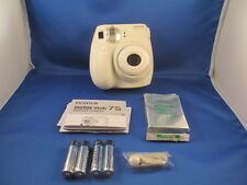 FUJIFILM INSTAX MINI-7s - WHITE CAMERA -NEW, NO RETAIL BOX -- BONUS FILM PACK