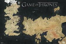 Game of Thrones World Map Westeros Essos 7 Kingdoms HBO TV Show Poster 36x24