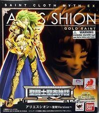 Brand New Bandai Saint Seiya Myth Gold Cloth EX Aries Shion Holy War Ver USA