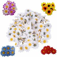 50/100Pcs Artificial Gerbera Daisy Flower Heads Sunflower Wedding Decoration