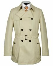 ALLEGRI Milano Mens Beige Khaki Trenchcoat Coat 46R Regular Euro 56 $695