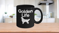 Golden Retriever Mug Black Coffee Cup Funny Gift for Dog Mom Dad Lover Best Life