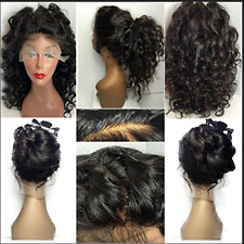 Brazilian Human Hair Wig Deep Curly Wavy Full Lace Wigs Baby Hair Pre Plucked