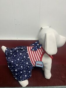 Simply Wag Dog Fourth of July Dress Size Small