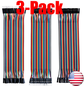 (1X/3X)40 PCS10/20/30CM MM, MF, FF Dupont Wire Jumper Cable Arduino Breadboard