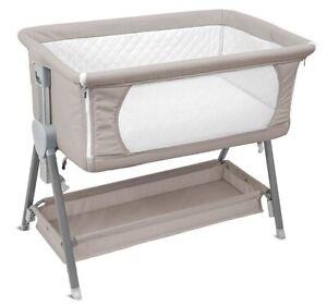 BabyBoom Bedside Baby Crib - Beige