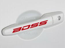 BOSS Vinyl Decal Sticker Racing Performance Sport Car Truck Door Handle logo