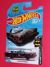2018 Hot Wheels TV Series Batmobile adam west #163 BATMAN FJX34-D9C0H H CASE