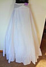 Vintage FULL LENGTH White Tulle Crinoline Petticoat Skirt By Under Cover Size 11