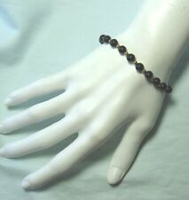"14K Yellow Gold and Onyx Bead Bracelet 7.0 grams 7 1/4"" long"