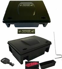 PROFESSIONAL RODENT BAIT STATION BOX TRAP for rat mouse Bait Blocks poison grain