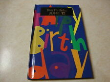 Your Birthday June 12 Greeting Card Book Hardcover