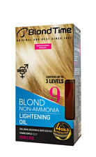 Blond Time 9 Non Amonia Ligthening Oil for Blond Hair Unisex with 4 Oils 240 ml