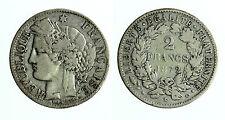 pcc1719_4) Francia, Repubblica 2 FRANCHI Ar Bordeaux, 1872 K