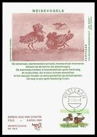 NIEDERLANDE MK 1984 FAUNA VÖGEL BIRDS MAXIMUMKARTE CARTE MAXIMUM CARD MC CM bv86