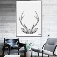 KQ_ Modern Deer Art Poster Wall Canvas Painting Picture for Room Home Decor Reli