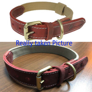 High Quality Leather Canvas Dog Collar_Adjustable Collar For Dogs S-XL Size