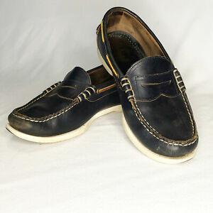 Allen Edmonds   Kirkwood Boat Shoe in Black – Size 10.5 3E