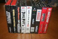 Sega Genesis 16 Bit Game Cartridges (Lot 0f 9, Sports/Game Show)