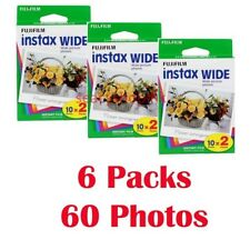 6 Packs FujiFilm Instax Wide Film, 60 Sheets Fuji Instant Photos 210 300