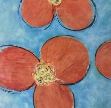 """April Flower"" By Viola Lee 16x16"" Poster Reprint"