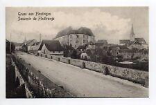 FENETRANGE finstingen Moselle CPA 57 Souvenir de ... pont entrée village