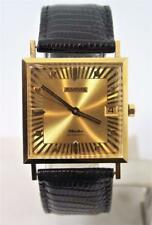 NOS 18K Gold JUVENIA MACHO Mens 25J AUTOMATIC Watch 8902 Sun Rays Dial SERVICED