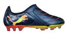 Puma V2.10 Tricks FG Mens Soccer Cleats / Boots   dark navy peach red men's 9.5