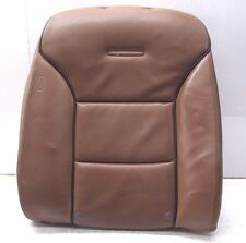 2004-2008 AUDI A8L W12 OEM RIGHT REAR PASSENGER UPPER SEAT CUSHION LEATHER BROWN