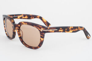 Tom Ford Campbell Tortoise / Brown Sunglasses TF198 52J 53mm