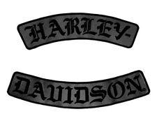 3XL HARLEY DAVIDSON OLD ENGLISH ROCKERS VEST JACKET BACK PATCH 12 INCH