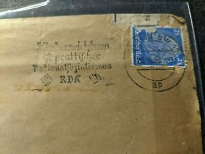 Swastika Cancel BERLIN, GERMANY 1939 WWII Postal History Cover to USA
