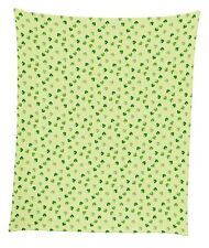 "Shamrocks Gingham Check Mircofleece Throw Blanket 50""x60"""