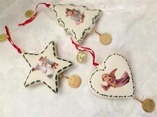 M L Hummel Hallmark Christmas Ornaments Star 2005 Tree 2006 Heart 2007 New